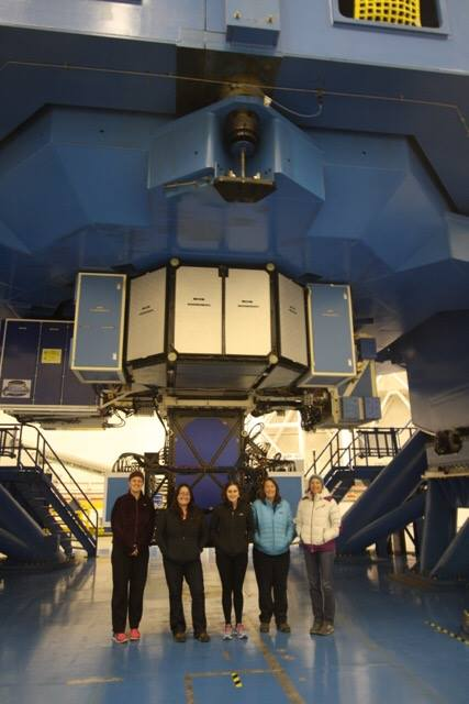 Sarah Blunt at Gemini South Telescope in Chile where she participated to a GPI observing run.