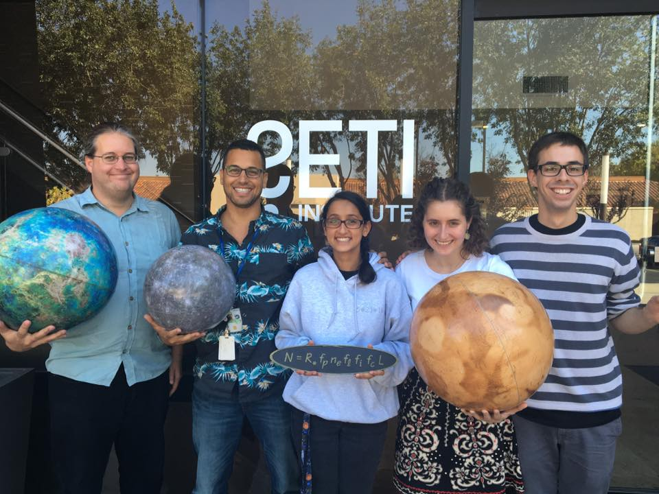 SETI Institute GPI group from left to right: Eric Nielsen, Franck Marchis, Jasmine Garani, Sarah Blunt, and Clement Chalumeau