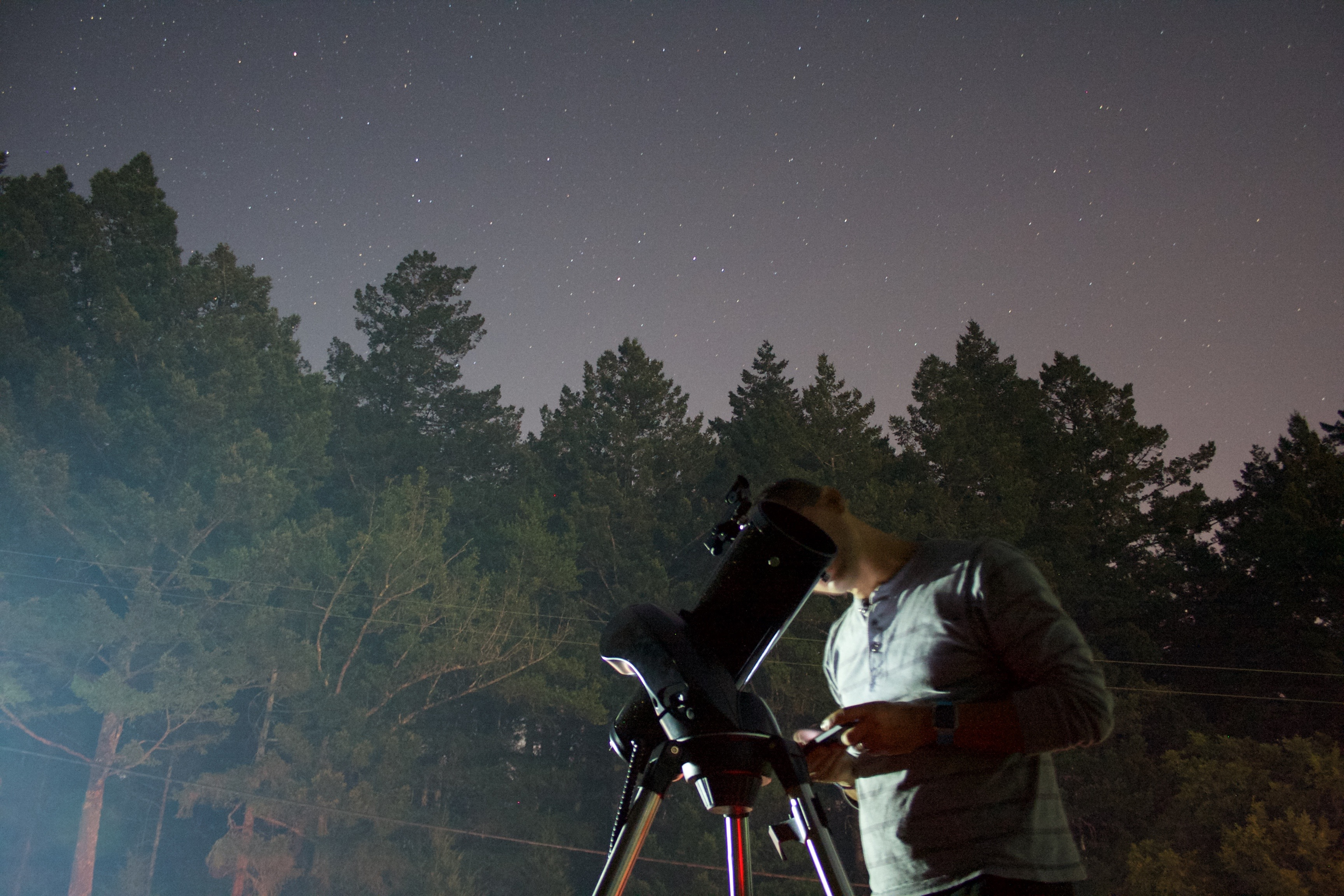 Our observing station near Mount Tamalpais, was close to the road and in a smoke of a forest fire. Not perfect for astronomy… (credit: C. Chalumeau & F. Marchis)