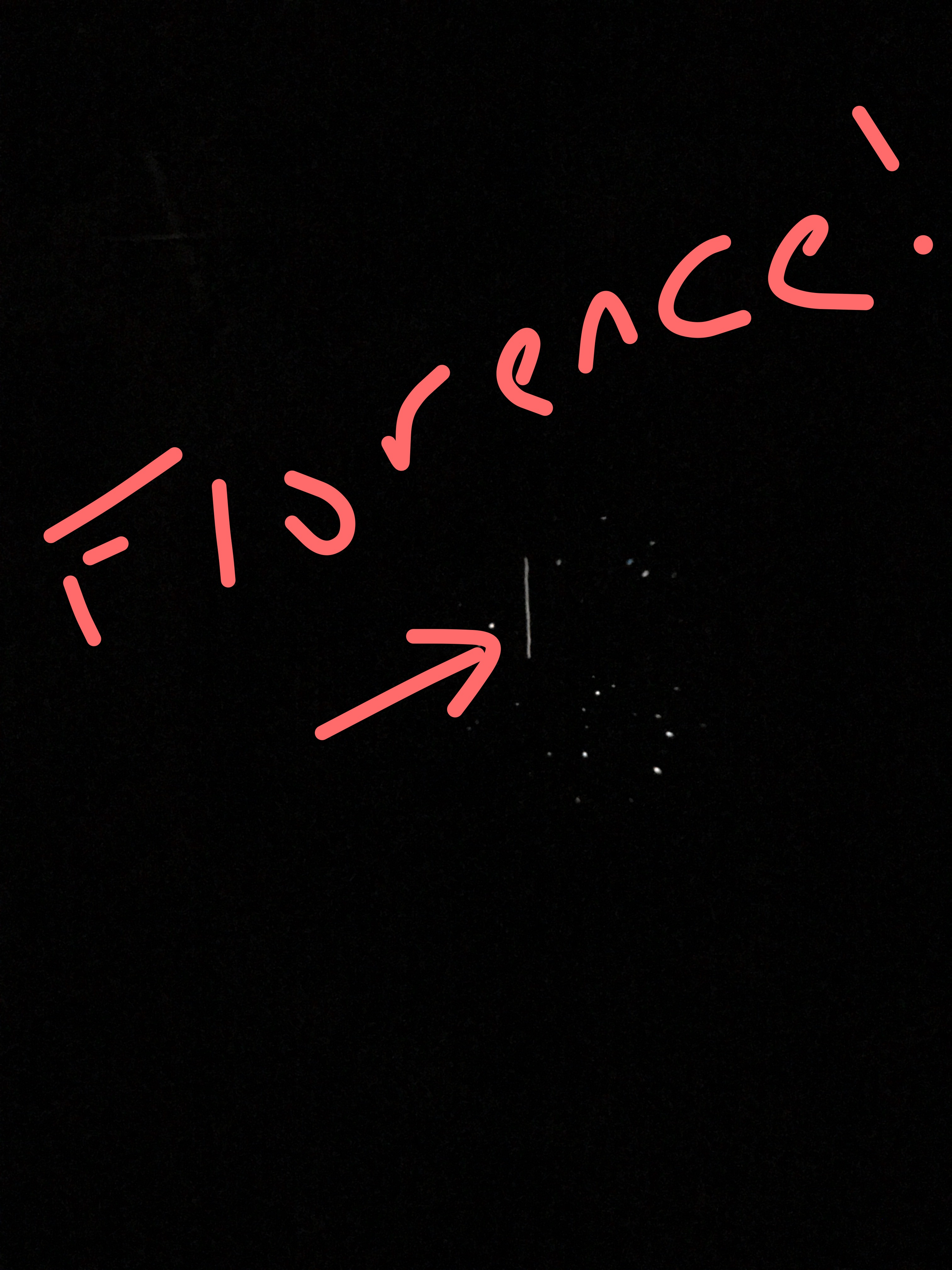 Asteroid Florence seen in the eyepiece after 20 min of observation (credit: F. Marchis)