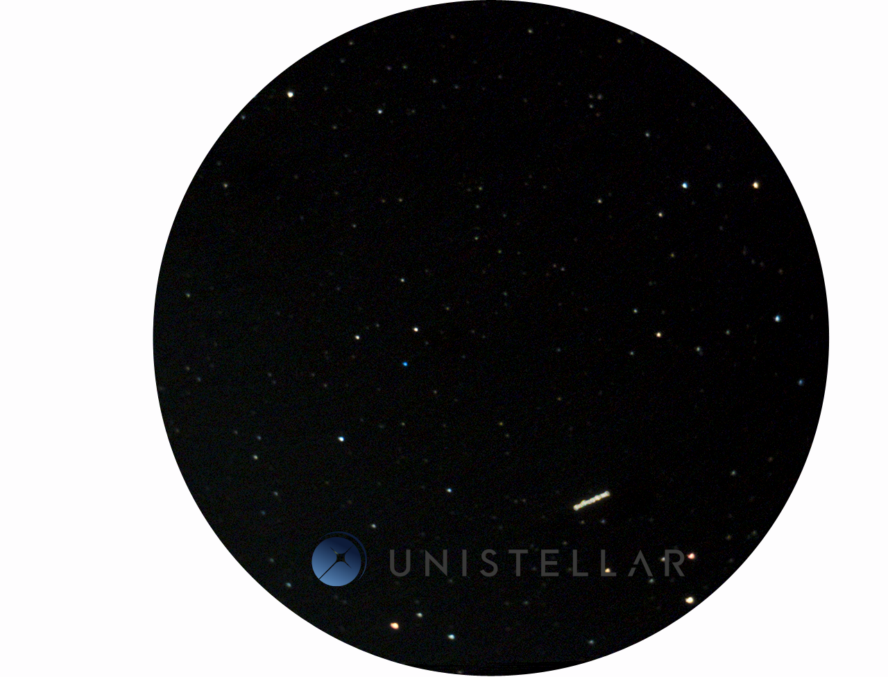 Three-min observation of the asteroid (3122) Florence seen in the eyepiece of the eVscope prototype. (Credit: Unistellar)
